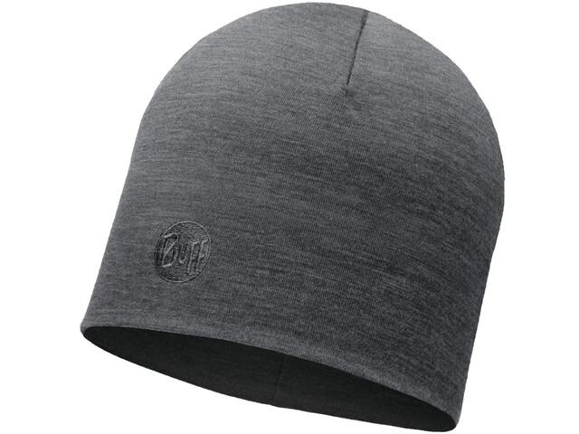 Buff Heavyweight Merino Wool Hat Regular Solid Grey
